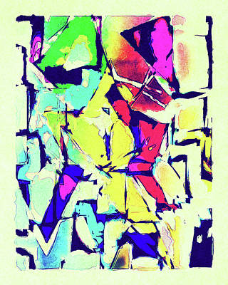 Abstract Explosion Poster by Susan Leggett