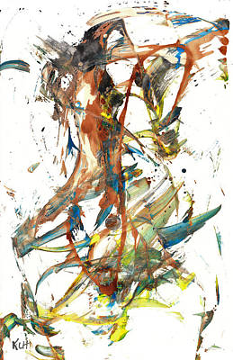 Poster featuring the painting Abstract Expressionism Painting Series 1039.050812 by Kris Haas