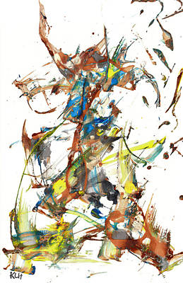 Poster featuring the painting Abstract Expressionism Painting Series 1040.050812 by Kris Haas