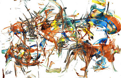 Poster featuring the painting Abstract Expressionism Painting Series 1041.050812 by Kris Haas