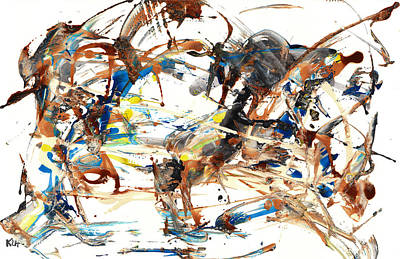 Poster featuring the painting Abstract Expressionism Painting Series 1042.050812 by Kris Haas