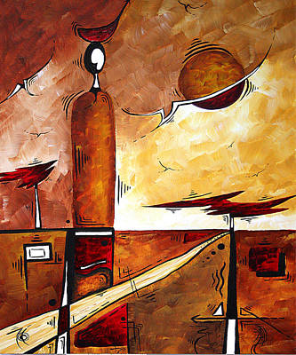 Abstract Figurative Art African Flame By Madart Poster by Megan Duncanson