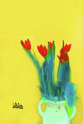 Abstract Floral Art 345 Poster