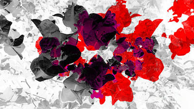 Abstract Floral No.3 Poster
