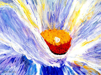 Abstract Floral Painting 001 Poster