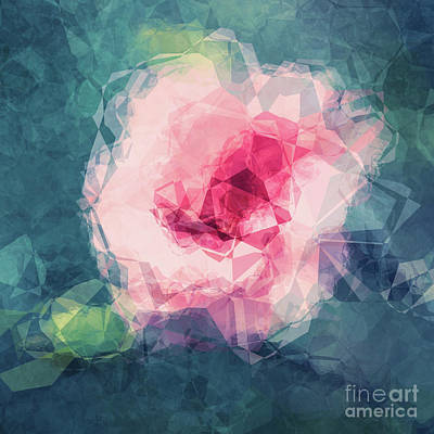 Abstract Flower II Poster by Angela Doelling AD DESIGN Photo and PhotoArt
