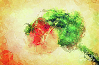 Abstract Flower V Poster by Angela Doelling AD DESIGN Photo and PhotoArt