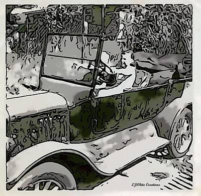 Abstract Ford Model T Car Poster