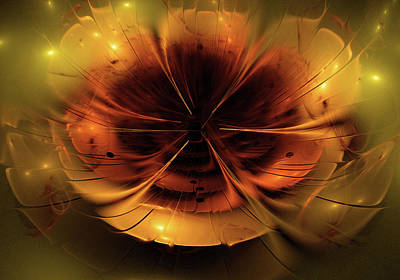 Abstract Fractal Flower Background Poster