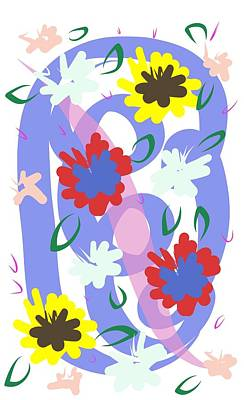 Poster featuring the digital art Abstract Garden #1 by Bee-Bee Deigner