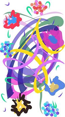 Poster featuring the digital art Abstract Garden #2 by Bee-Bee Deigner