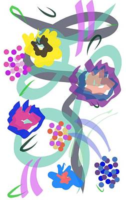 Poster featuring the digital art Abstract Garden Nr 4 by Bee-Bee Deigner