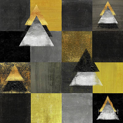 Abstract Geometric Square And Triangle Design Poster by Tina Lavoie
