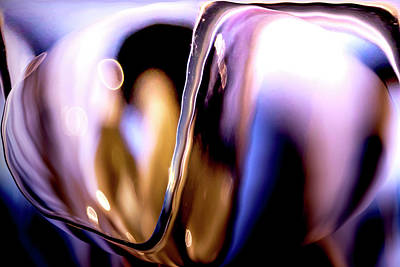 Poster featuring the photograph Abstract Glass by Eric Christopher Jackson