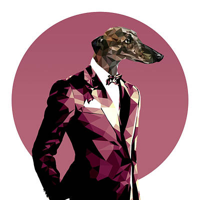Abstract Greyhound 1 Poster by Gallini Design