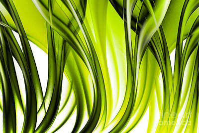 Abstract Green Grass Look Poster