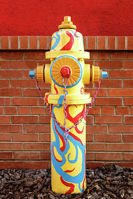 Poster featuring the photograph Abstract Hydrant by James Eddy