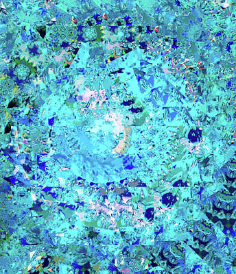 Abstract In Blue No. 56-2 Poster