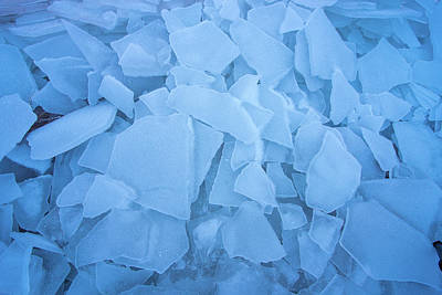 Abstract In Ice Poster