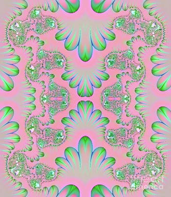 Poster featuring the digital art Abstract In Pastels by Linda Phelps