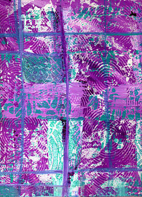 Abstract In Purple And Teal Poster