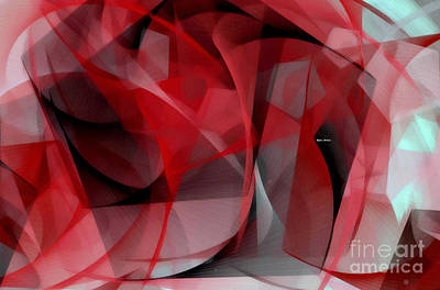Poster featuring the digital art Abstract In Red Black And White by Rafael Salazar