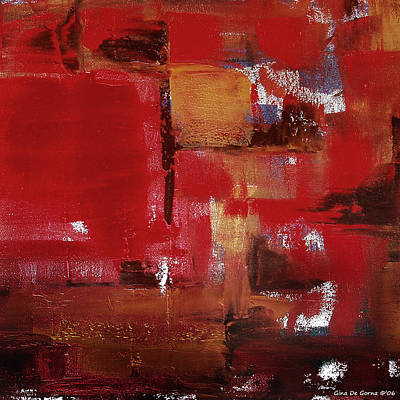 Abstract In Red Poster