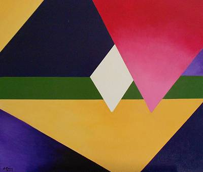 Poster featuring the painting Abstract by Jamie Frier