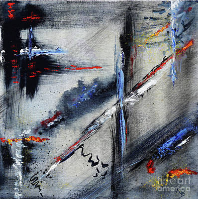 Poster featuring the painting Abstract by Karen Fleschler