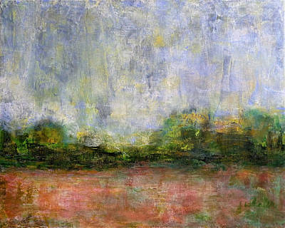 Abstract Landscape #310 - Spring Rain Poster