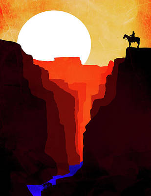 Abstract Landscape Canyon Art 4 - By Diana Van Poster