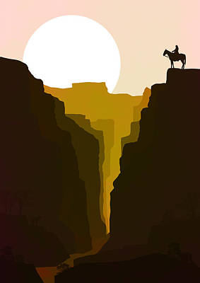 Abstract Landscape Canyon Art 5 - By Diana Van Poster