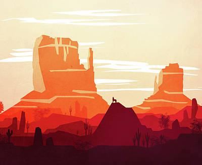 Abstract Landscape Desert Art 5 - By Diana Van Poster