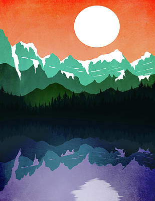 Abstract Landscape Lake Tahoe 4 Poster