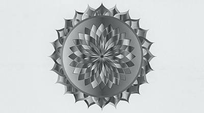Abstract Mandala Art Poster by Wall Art Prints