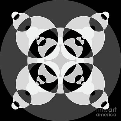 Abstract Mandala Black, Gray And White Pattern For Home Decoration Poster