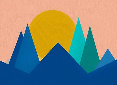 Abstract Mountain Sunset Poster by Dan Sproul