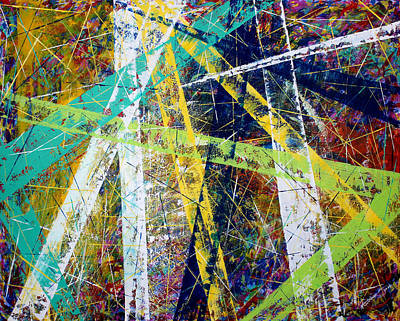 Abstract Nineteen -strength And Hope Poster by Kume Bryant