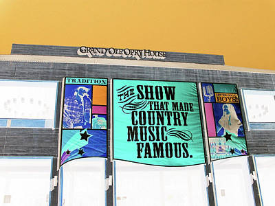 Abstract Of The Grand Ole Opry House In Nashville Tennessee Poster