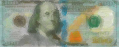 Abstract One Hundred Us Dollar Bill  Poster by Serge Averbukh