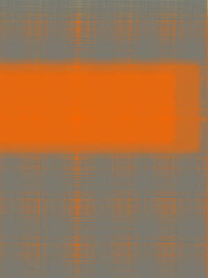 Abstract Orange 3 Poster
