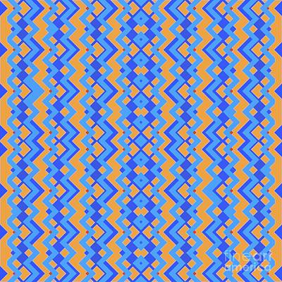 Abstract Orange, Cyan And Cyan Pattern For Home Decoration Poster