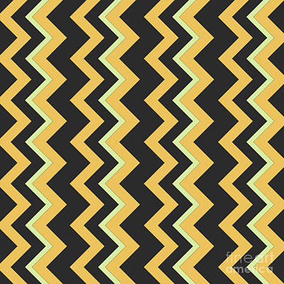 Abstract Orange, Dark Gray And Green Pattern For Home Decoration Poster by Pablo Franchi