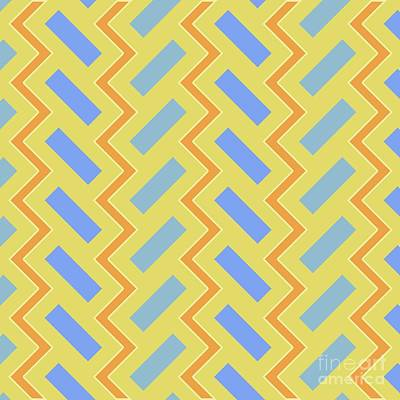 Abstract Orange, Green And Cyan Pattern For Home Decoration Poster by Pablo Franchi