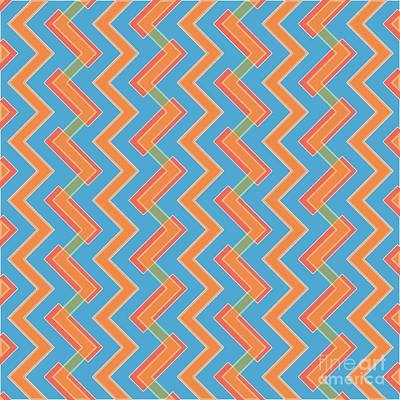 Abstract Orange, Red And Cyan Pattern For Home Decoration Poster by Pablo Franchi