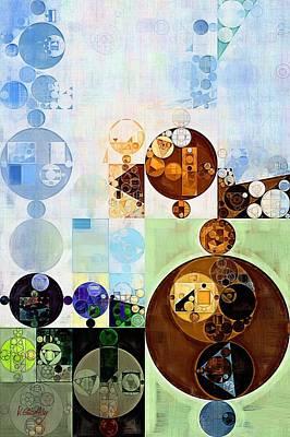Abstract Painting - Brown Pod Poster by Vitaliy Gladkiy