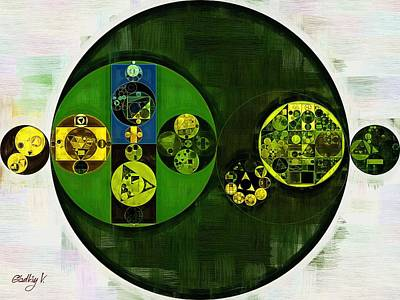 Abstract Painting - Cardin Green Poster by Vitaliy Gladkiy