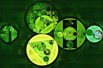 Abstract Painting - Dark Green Poster by Vitaliy Gladkiy