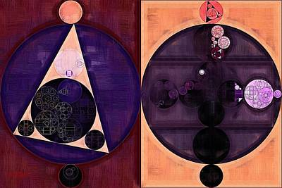 Abstract Painting - Dark Salmon Poster by Vitaliy Gladkiy