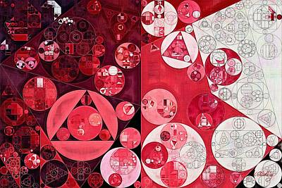 Abstract Painting - Dark Scarlet Poster by Vitaliy Gladkiy